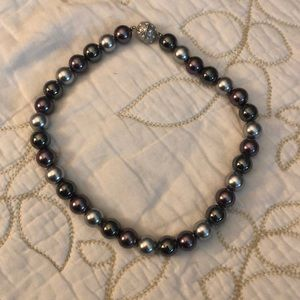 Premier Designs purple/gray/silver choker